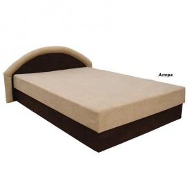 Кровать Вика Ривьера 140 с матрасом мебельная ткань 163х202х80 см