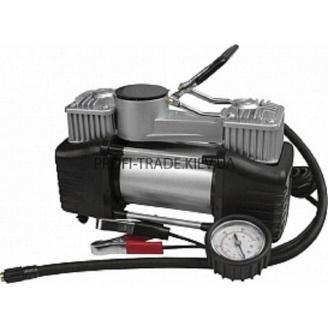 Мини-компрессор автомобильный двухпоршневой 81-118 с клеммами 12 В 10 бар 60 л/мин