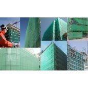 Сітка захисна фасаду для риштувань полімер зелена