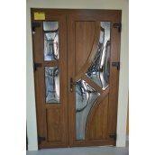 Двери металлопластиковые из профиля VEKA коричневые