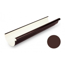 Ринва водостічна Galeco PVC 130 132х4000 мм шоколадно-коричневий