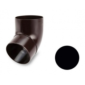 Коліно 45 градусів Galeco PVC 130/100 100 мм чорний