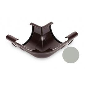 Кут внутрішній 90 градусів Galeco PVC 150/100 148х242 мм світло-сірий