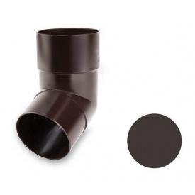 Коліно 67 градусів Galeco PVC 150/100 виливне під хомут 100 мм темно-коричневий