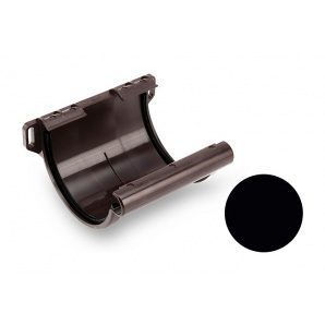 Муфта желоба Galeco PVC 110/80 107х120 мм черный