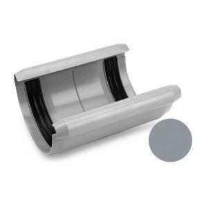 Муфта желоба с прокладкой Galeco PVC 180/125 183х250 мм светло-серый