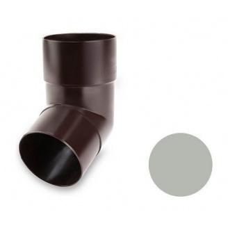 Коліно 67 градусів Galeco PVC 150/100 виливне під хомут 100 мм світло-сірий