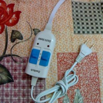 Простынь электрическая 140х155 см. Электроматрас двухспальный, байковый. Турция