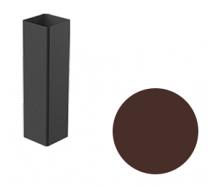 Водосточная труба Galeco STAL 2 125/80 80х80х2000 мм шоколадно-коричневый