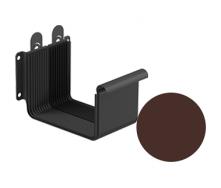 Соединитель желоба Galeco STAL 2 125/80 125 мм шоколадно-коричневый