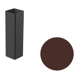 Водостічна труба Galeco STAL 2 125/80 80х80х2000 мм шоколадно-коричневий