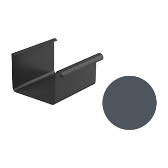 Желоб водосточный Galeco STAL 2 125/80 125х4000 мм графитовый
