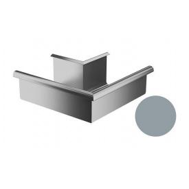 Кут зовнішній 90 градусів Galeco BEZOKAPOWY 125/80 125 мм срібний