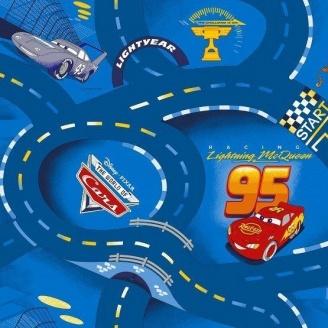 Ковролін AW World of Cars 77 дитячий 6,5 мм синій