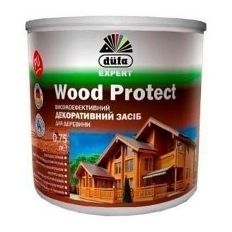 Декоративное средство Dufa Wood Protect 0,75 л махагон