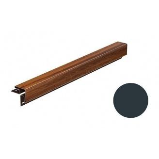 Угол наружный для софита Galeco DECOR 3000 мм графитовый