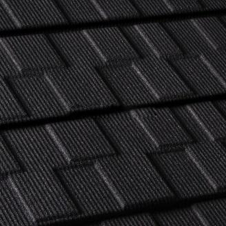 Композитная металлочерепица Gerard Shingle 1260x368 мм deep black