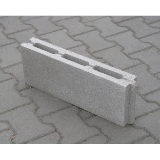 Блок бетонный простеночный вибропрессованый 80х190х500 мм