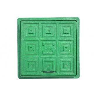 Люк квадратный смотровой 500x500 см зеленый