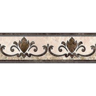 Бордюр Inter Cerama EMPERADOR 13,7x43 см коричневый