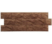 Фасадная панель Docke FELS скала 1,15х0,45 м ржаной