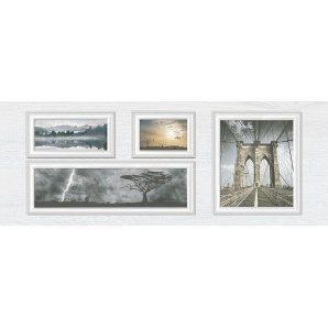 Декор Inter Cerama INDY 23x60 см серый светлый (Д 118 071)