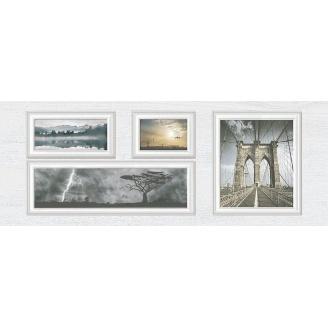 Декор Inter Cerama INDY 23x60 см сірий світлий (Д 118 071)