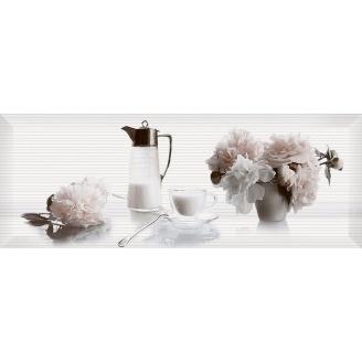 Декор Inter Cerama PERGAMO 15x40 см білий (Д 123 061-3)