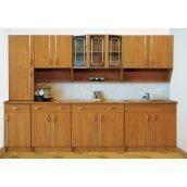 Кухня Мебель-Сервис Павлина 2,6 м со столешницей коричневая