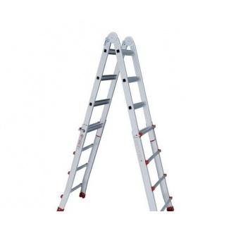 Лестница алюминиевая универсальная раскладная телескопическая 4,2 м