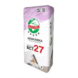 Шпаклевка Anserglob ВСТ 27 20 кг светло-серый