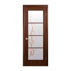 Двері міжкімнатні Новий Стиль КВАДРА Р Вікторія 600х2000 мм горіх