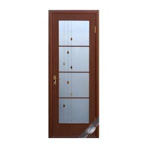 Двері міжкімнатні Новий Стиль КВАДРА Р Вікторія 600х2000 мм каштан