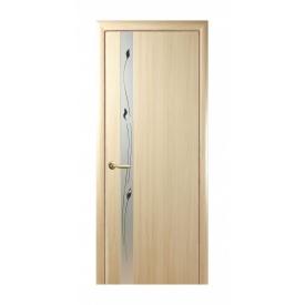 Двері міжкімнатні Новий Стиль ПВХ КВАДРА Р Злата 600х2000 мм ясен
