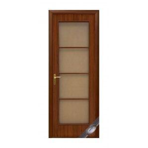 Двері міжкімнатні Новий Стиль КВАДРА Вікторія 600х2000 мм горіх