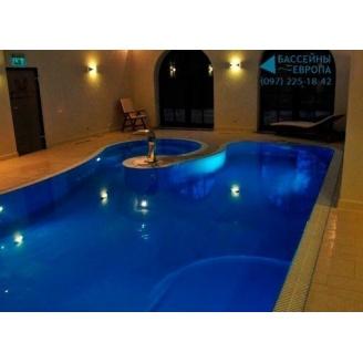 Бетонный бассейн скимерный с мозаикой