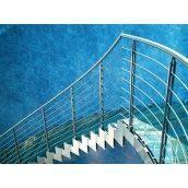 Сходи скляні Тріумф Захід з металевими перилами