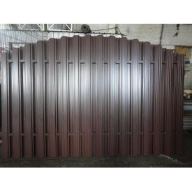 Забор из двухстороннего металлического штакета Мираж 0,5 мм