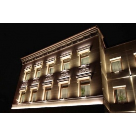 Проектування і монтаж освітлення фасадів будівлі