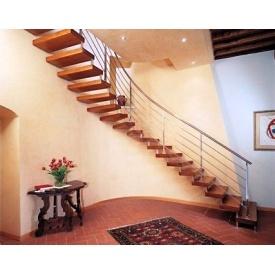 Сходи консольні Тріумф Захід з металевими поручнями і сходинками