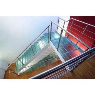 Ступеньки для металлической лестницы Триумф Запад стеклянные
