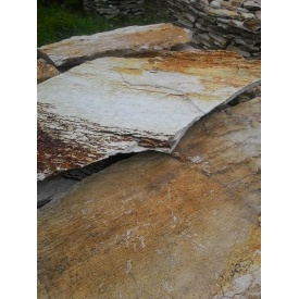 Липарит Дикий 2 см бело-коричневый