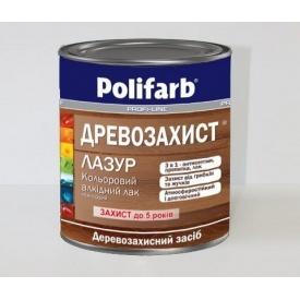 Лак Polifarb ДРЕВОЗАХИСТ ЛАЗУРЬ 0,7 кг