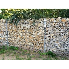 Декоративний паркан з габіонів