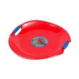 Санки-тарелка Plastkon Торнадо супер 54х8 см красные