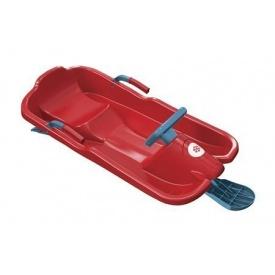 Санки с рулем Plastkon Скибоб 80х120х45 см красные