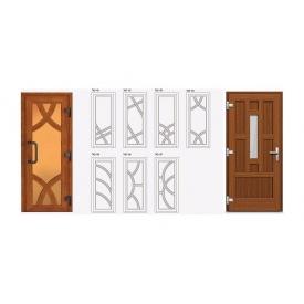 Двери металлопластиковые из ПВХ-профиля VEKA коричневые