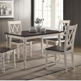Стол нераскладной Domini Дженни 1200x750x750 мм белый-шоколад