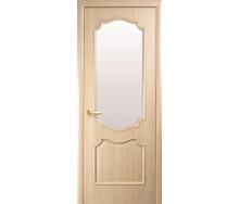 Двери межкомнатные Новый Стиль ИНТЕРА Рока с сатиновым стеклом 2000х40 мм Ясень