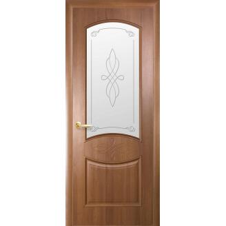 Двери межкомнатные Новый Стиль ИНТЕРА Донна Р1 2000х34 мм золотая ольха